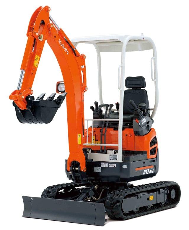 new 1 6 tonne u17 3 zero tail swing kubota mini excavator. Black Bedroom Furniture Sets. Home Design Ideas