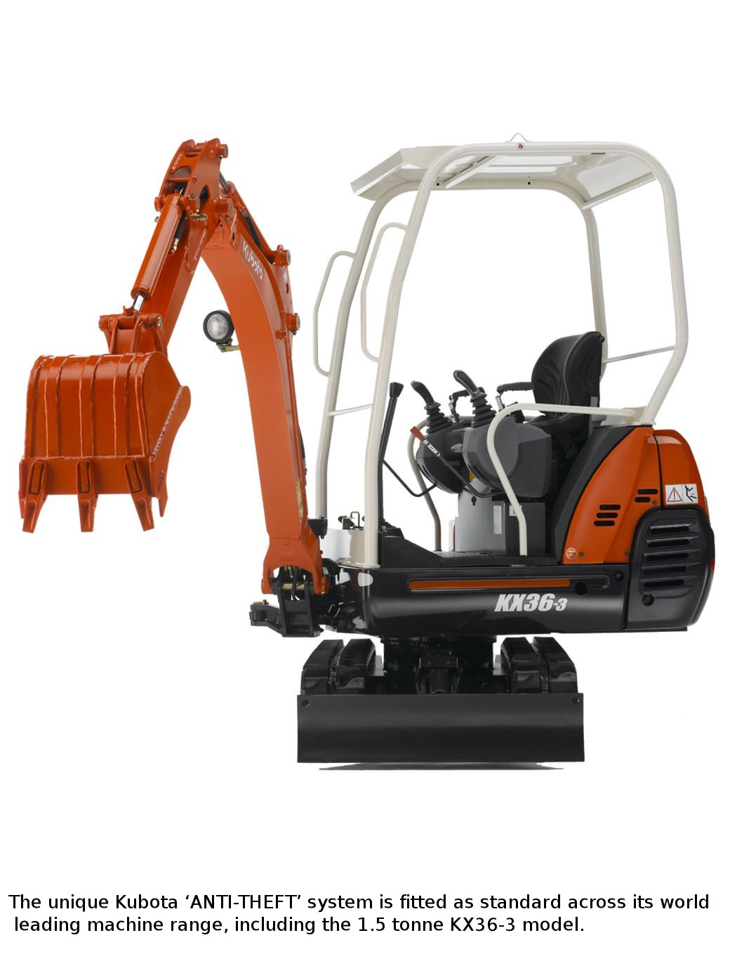 Kubota 'Anti-Theft' system halts mini theft